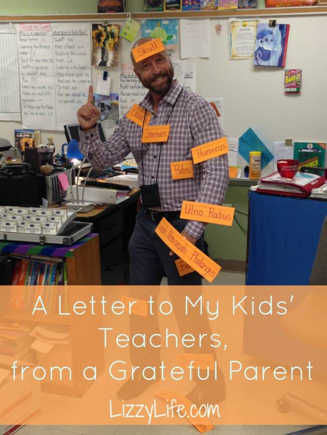 Lizzy Life | A Letter to My Children's Teachers, from a