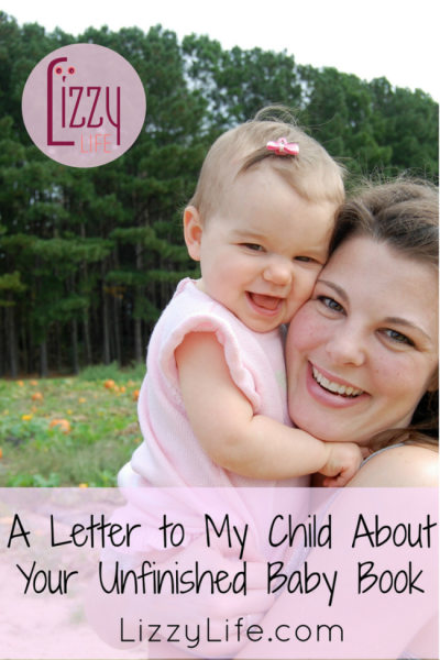 Why I didn't finish your baby book via @lizzylit