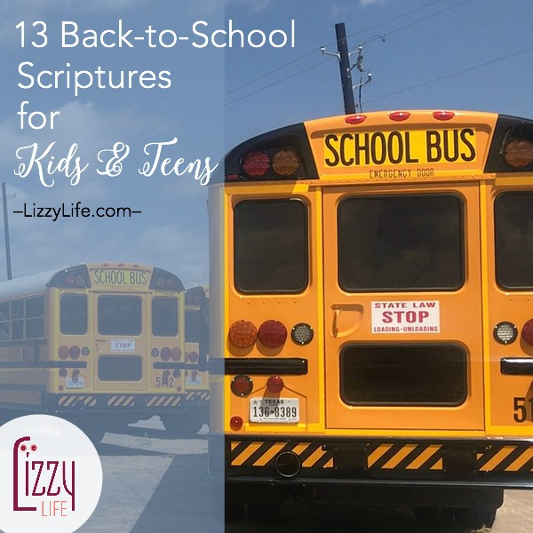 back to school Bible verses to read with kids and teens