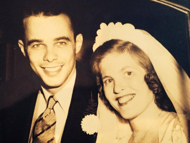 Frank and Jane, wedding day