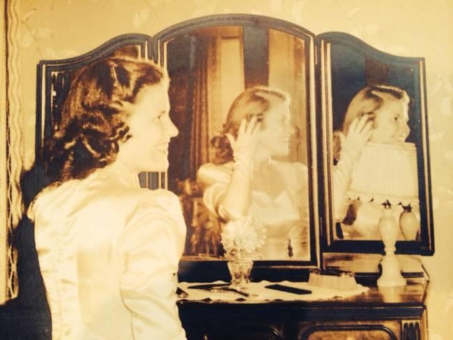Jane Guba 1946 bride
