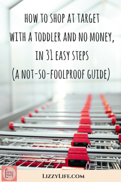 how to shop at Target with a toddler